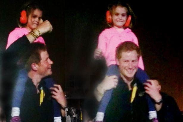 طفلة بريطانية تلقى معاملة خاصة من قبل الأمير هاري