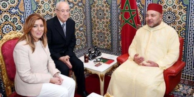 ملك المغرب فاجأ سوسانا دياث باستقبالها في تطوان