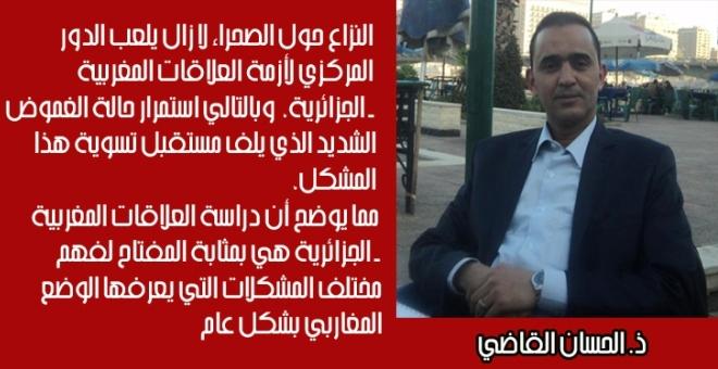 ما موقع الصحراء المغربية في النظام السياسي الجزائري؟