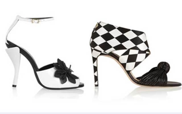 الأبيض والأسود يسيطران على أحذية الخريف
