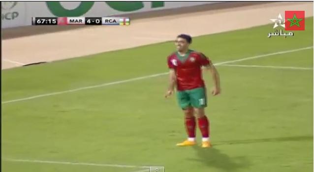 الهدف الرابع للمغرب ضد إفريقيا الوسطى