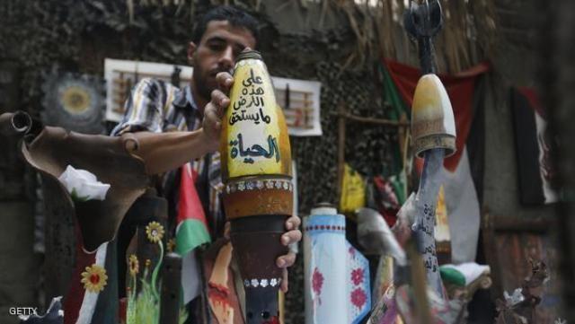 صواريخ إسرائيل.. أعمال فنية تدعو للسلام بغزة