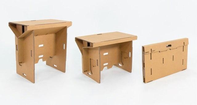 بالصور .. طاولة من الكارتون تغنيك عن الأثاث الخشبي!
