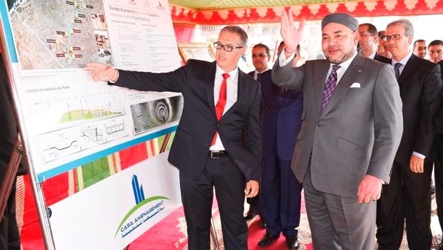 العاهل المغربي يعطي انطلاقة مشاريع مهيكلة جديدة في الدار البيضاء