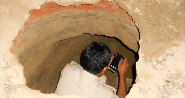 GhadiNews - A tunnel length of 40 meters to steal bank in India