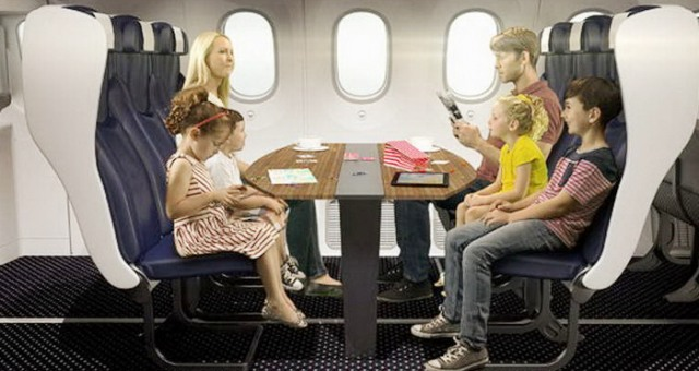 هل تتخيل تصميم مقصورة للعائلات على متن الطائرات؟