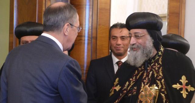 لافروف يلتقي بموسكو مع بابا الكنسية القبطية