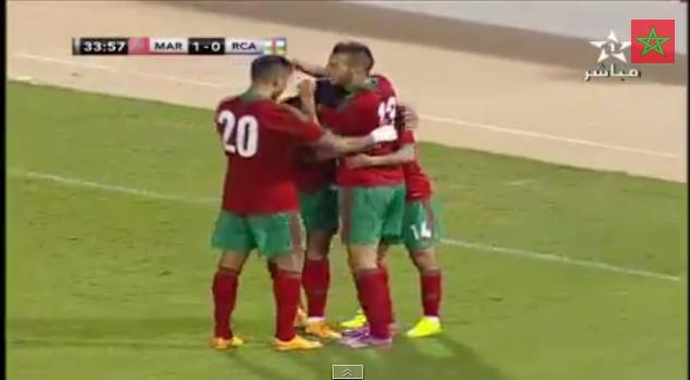 هدف المغرب الأول ضد إفريقيا الوسطى
