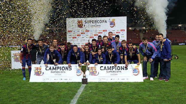 برشلونة يتوج بكأس السوبر الكاتالوني