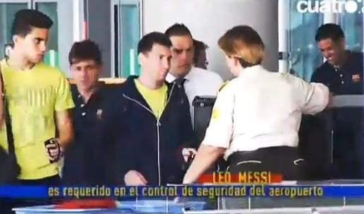 توقيف ميسي للتفتيش في مطار باريس