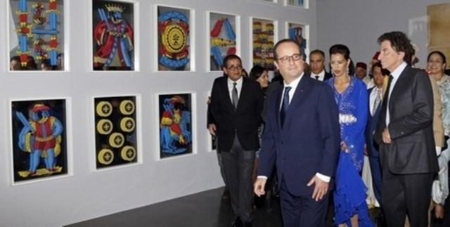 الأميرة للا مريم والرئيس الفرنسي يدشنان معرض