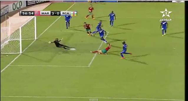 هدف المغرب الثالث ضد إفريقيا الوسطى
