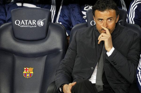 مستقبل لويس انريكي ببرشلونة على كف عفريت