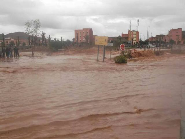 تساقطات مطرية استثنائية تتسبب في خسائر مادية في إقليم كلميم