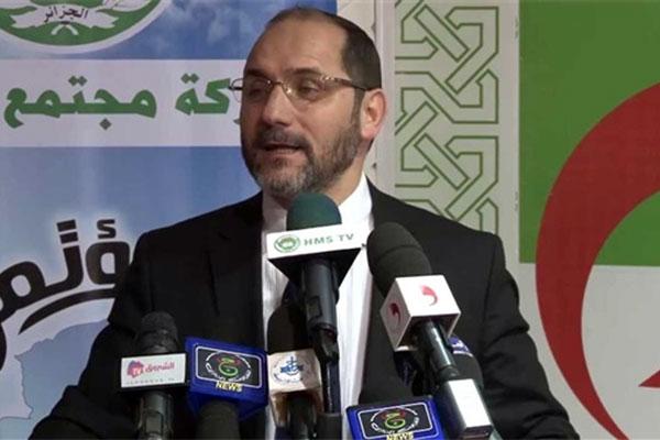 رئيس حركة مجتمع السلم عبد الرزاق مقري يصف أحزاب الموالاة بـ