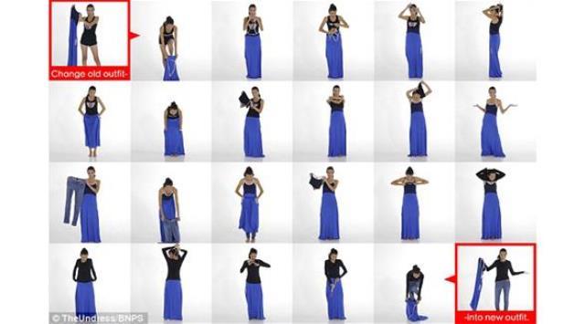 ابتكار يسمح للمرأة تبديل ملابسها في أي مكان