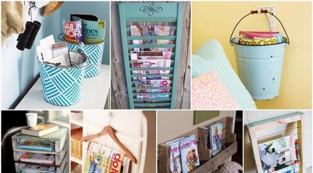 بالصور: أفكار بسيطة لتنظيم المجلات بشكل أنيق في المنزل