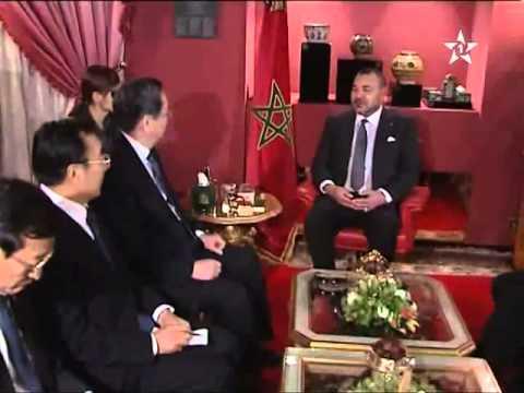 العاهل المغربي  يستقبل  رئيس لجنة المؤتمر الاستشاري اللشعب الصيني