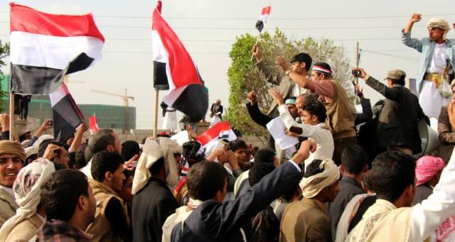 مظاهرة بصنعاء تطالب بخروج الحوثيين
