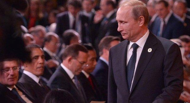 بوتين يغادر قمة العشرين قبل اختتامها