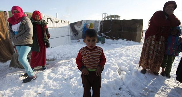 Syrian refugees Winter
