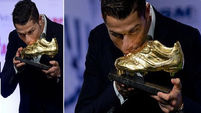 رونالدو يتسلم الحذاء الذهبي لهداف أوروبا