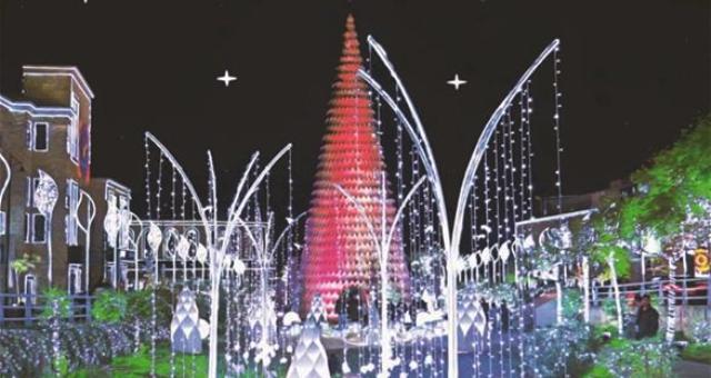 شجرة ميلاد لبنانية بين الأجمل في العالم