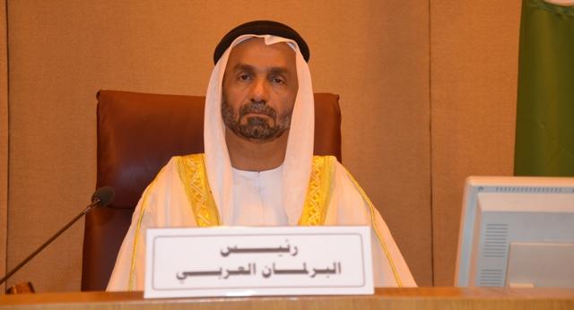 البرلمان العربي يؤكد دعمه لفلسطين