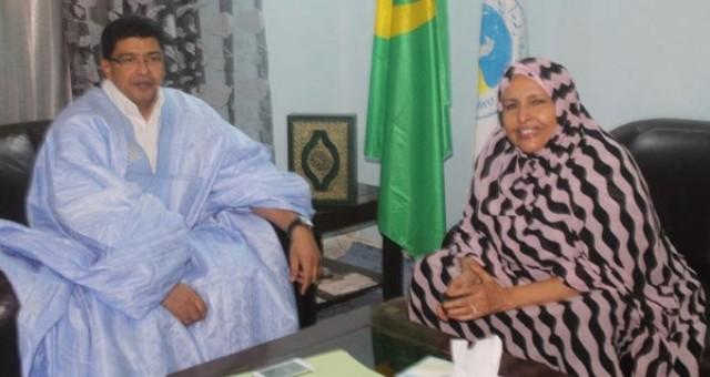 انضمام المعلومة بنت الميداح إلى الحزب الموريتاني الحاكم