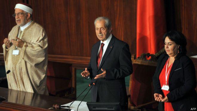 انتخاب محمد الناصر رئيسا لبرلمان تونس الجديد ومورو نائبا أول له