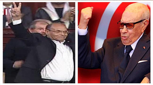 السبسي يعلن فوزه برئاسة تونس والمرزوقي ينتظر الإعلان الرسمي ليصرح بفوزه