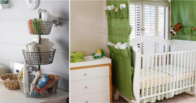 بالصور: 15 فكرة بسيطة لتخزين أغراض الطفل الرضيع