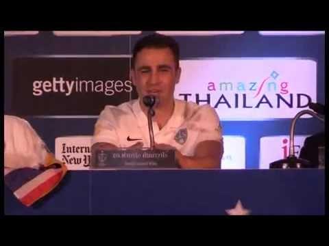 فيغو وكانافارو في مباراة خيرية بتايلاند