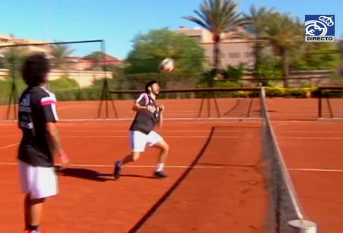 نجوم ريال مدريد يلعبون التنس بمراكش