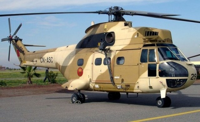 مروحية القوات الملكية الجوية تتدخل لانقاذ ساكنة اقليم ورززات
