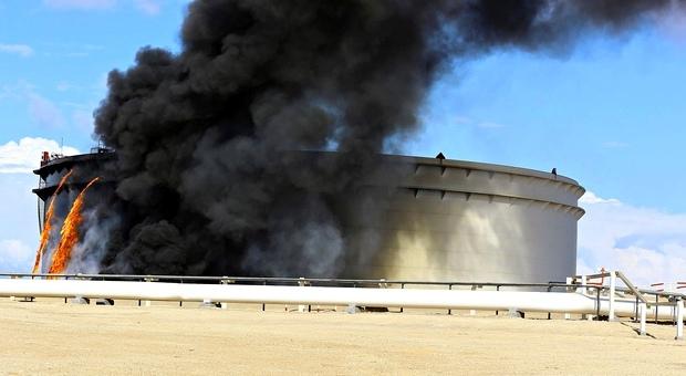 حريق ميناء