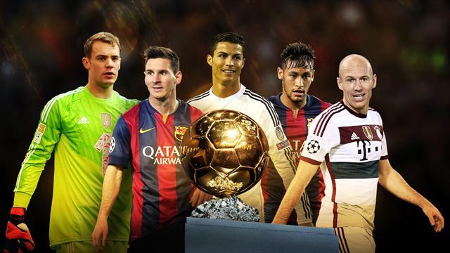 ثلاثة نجوم يتنافسون على الكرة الذهبية لعام 2014