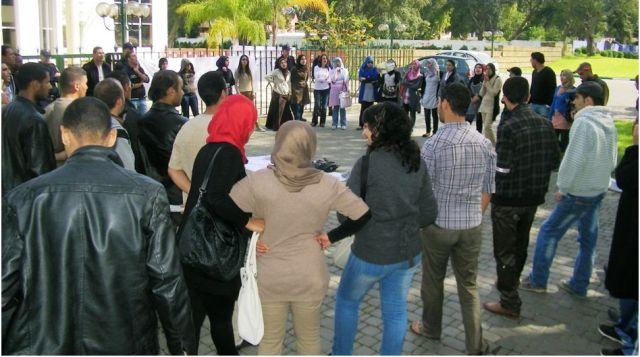 الحبس في القنيطرة ل11 طالبا جامعيا في قضية عنف بعد احتجاجات على النقل الحضري