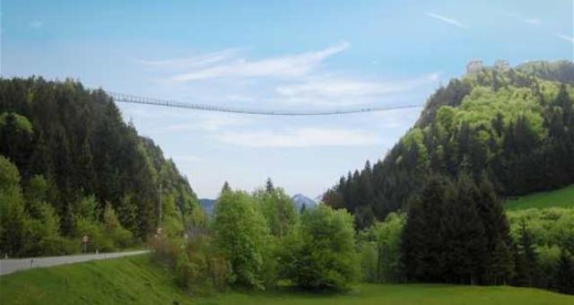 النمسا تدخل غينيس بافتتاح أطول جسر معلق في العالم