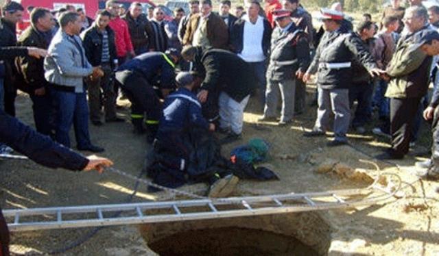 انتشال جثت 3 أشخاص من قعر بئرين شرق مدينة خنيفرة