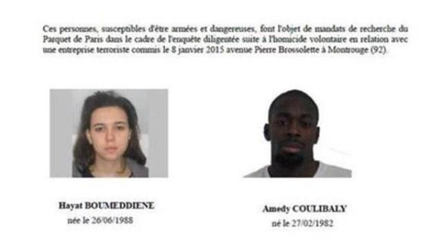 شرطة فرنسا تكشف عن هوية شخصين خطيرين ..افريقي وفتاة ذات أصول مغاربية