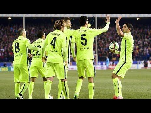 أتلتيكو مدريد وبرشلونة 2-3