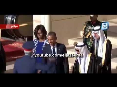 الملك سلمان يترك أوباما لأداء صلاة العصر