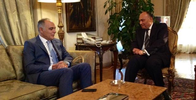 مزوار خلال  اجتماعه مع سامح شكري: لايمكن لأي أحد أن يفرق بين المغرب ومصر