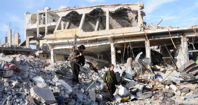 مشاهد الدمار تغزو كوباني بعد تحريرها