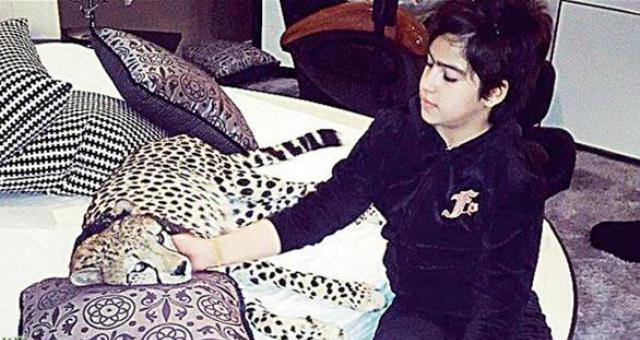 طفلة تروّض حيوانات مفترسة في منزلها