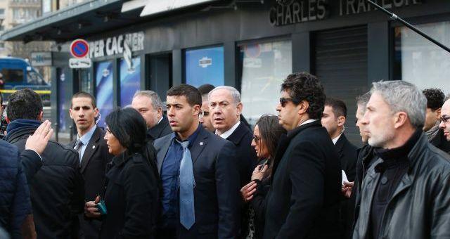 بعد الهجوم عليه..نتانياهو يزور المتجر اليهودي بباريس