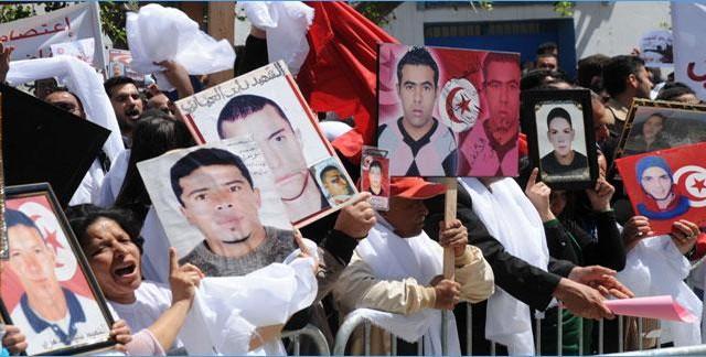 تحرّك احتجاجي لعائلات شهداء الثورة و جرحاها تحت شعار