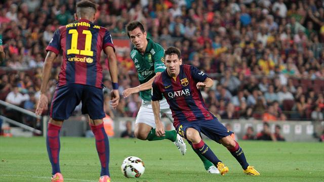 برشلونة يسحق إلتشي ويقترب من الريال
