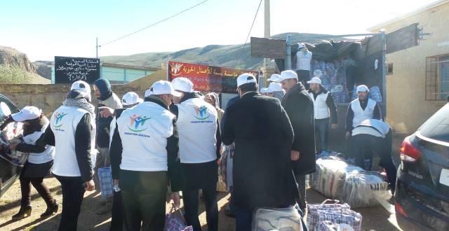 قافلة خيرية لإيصال المساعدات إلى قرى الجهة الشرقية للمغرب